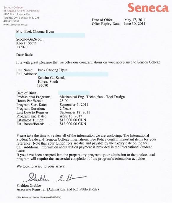 college acceptance letter letter of acceptance seneca 8iat8ung